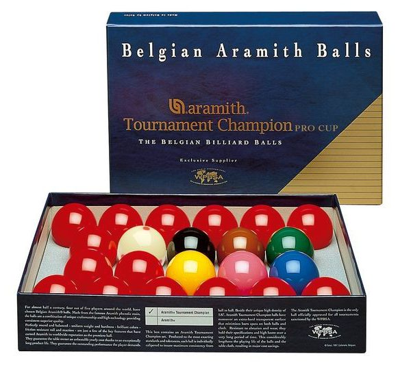 2 1/16 Tournament Champion Snooker Balls