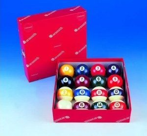 Aramith 1 5/8inch 41mm Screen Printed Pool Balls