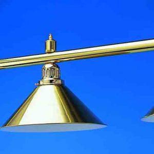 Bar Light with 3 Shades Brass