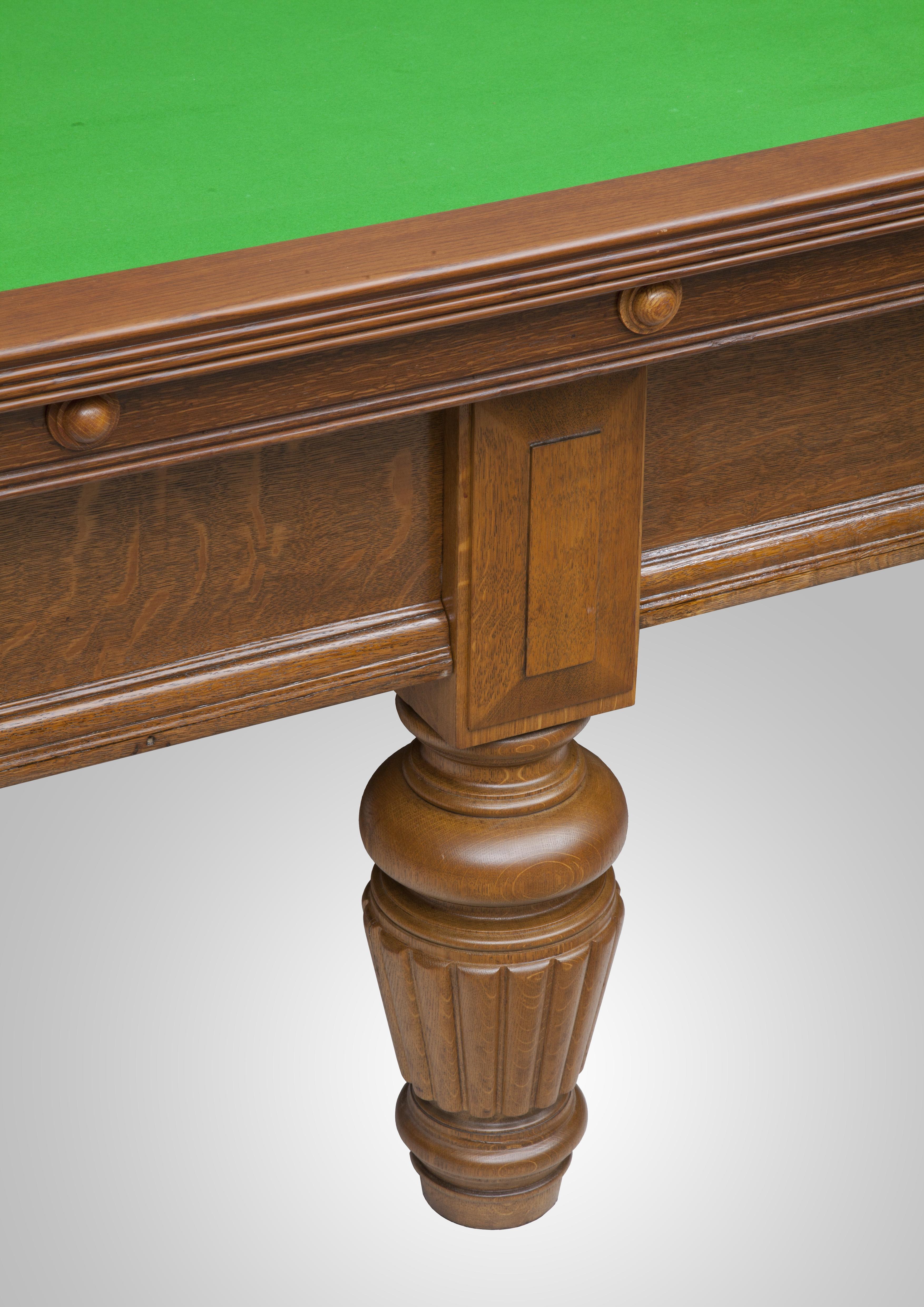 Burroughs amp Watts Restored antique oak Snooker Table : Antique table 22 from www.alliancesnooker.co.uk size 3508 x 4961 jpeg 8198kB