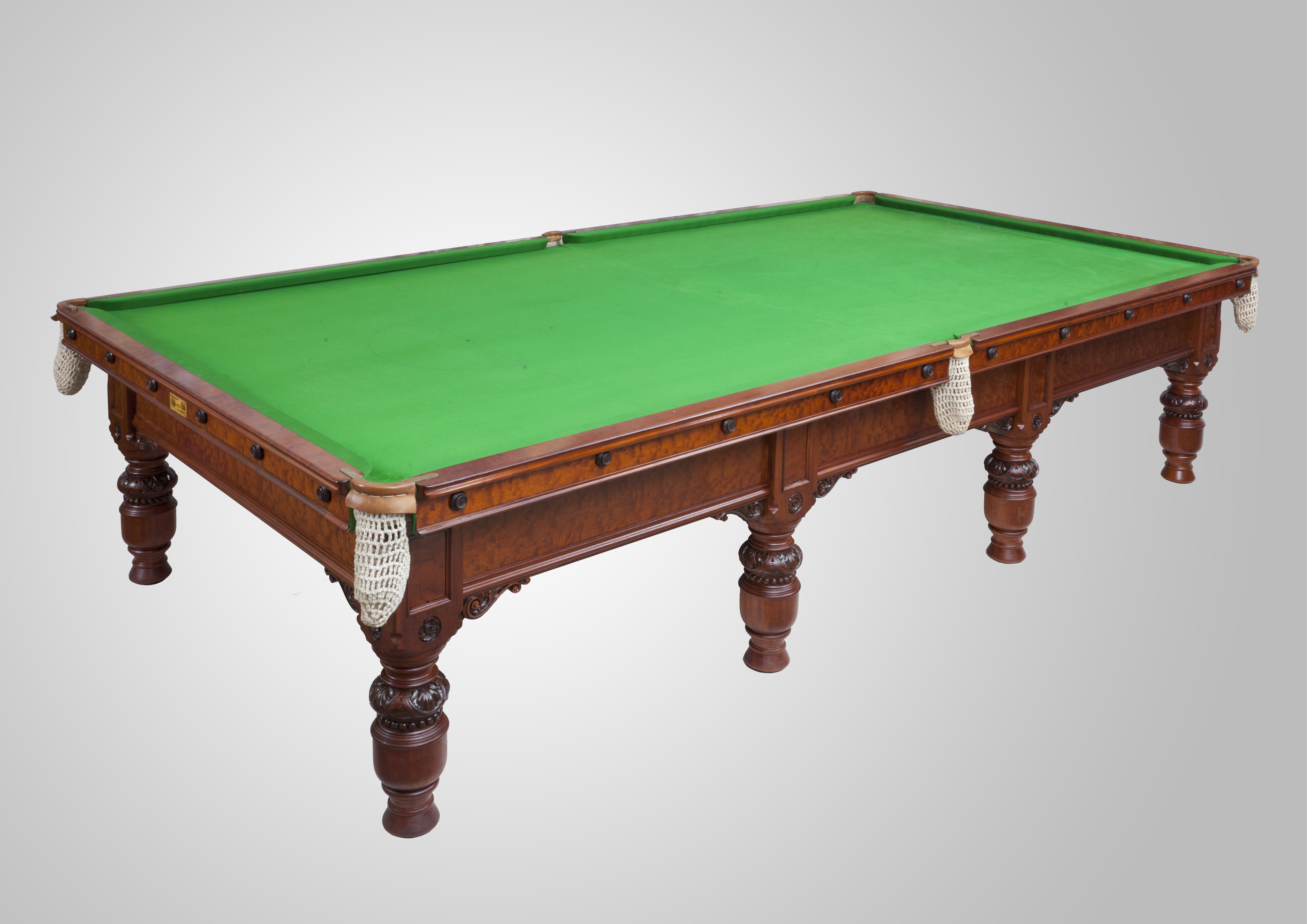 Ashcroft and co full size table alliance snooker for 1 4 size snooker table